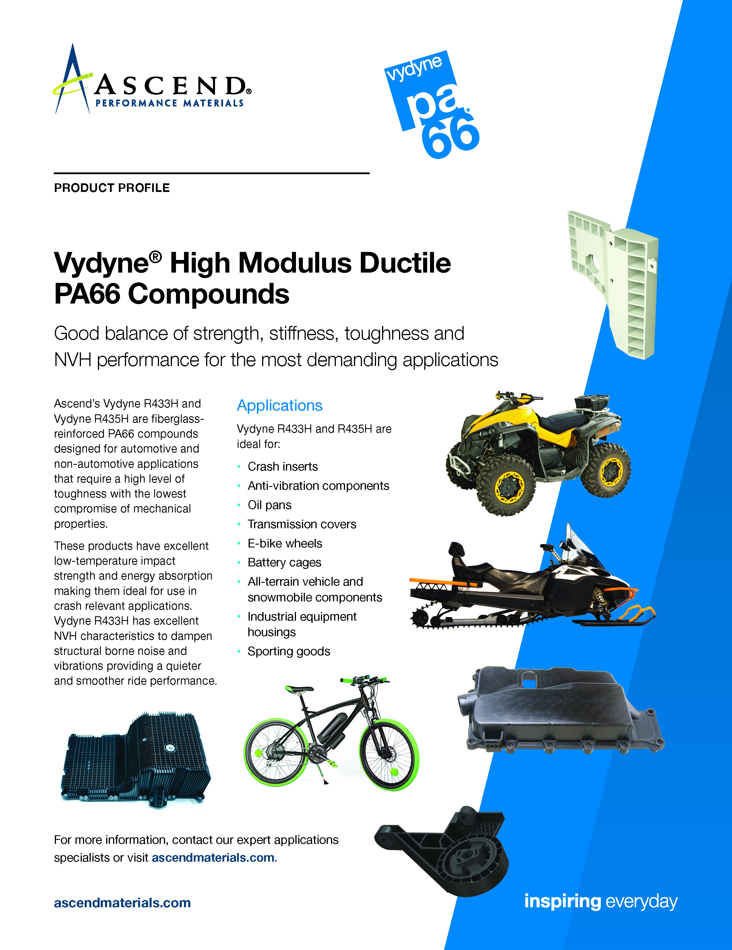 Vydyne® High Modulus Ductile PA66 Compounds