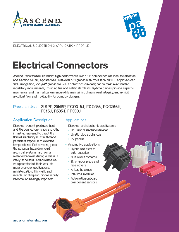 Electrical/electronic application: electrical connectors